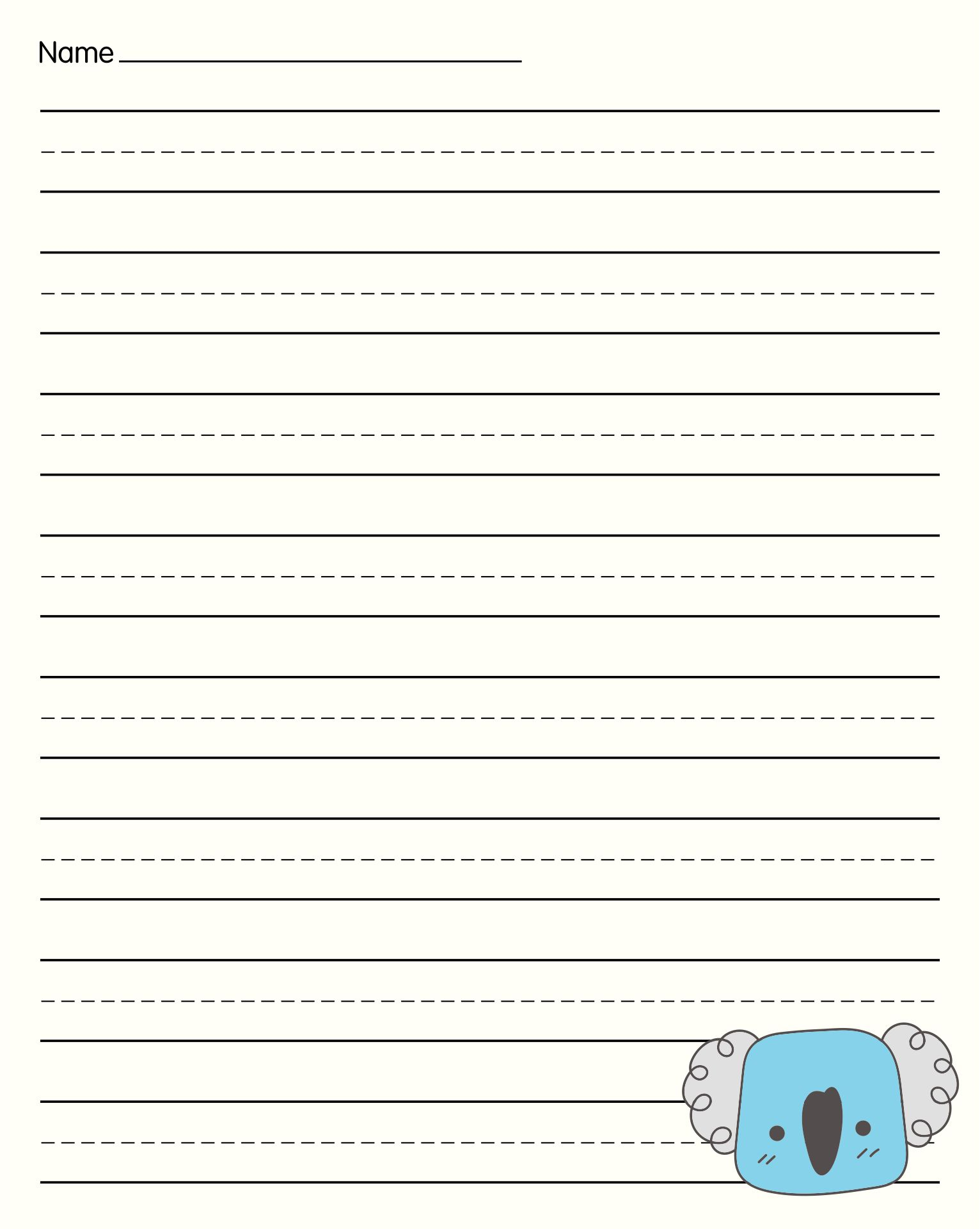 Printable Primary Writing Paper