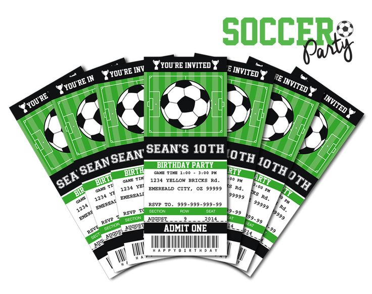 7 Images of Soccer Ticket Invitations Templates Free Printable