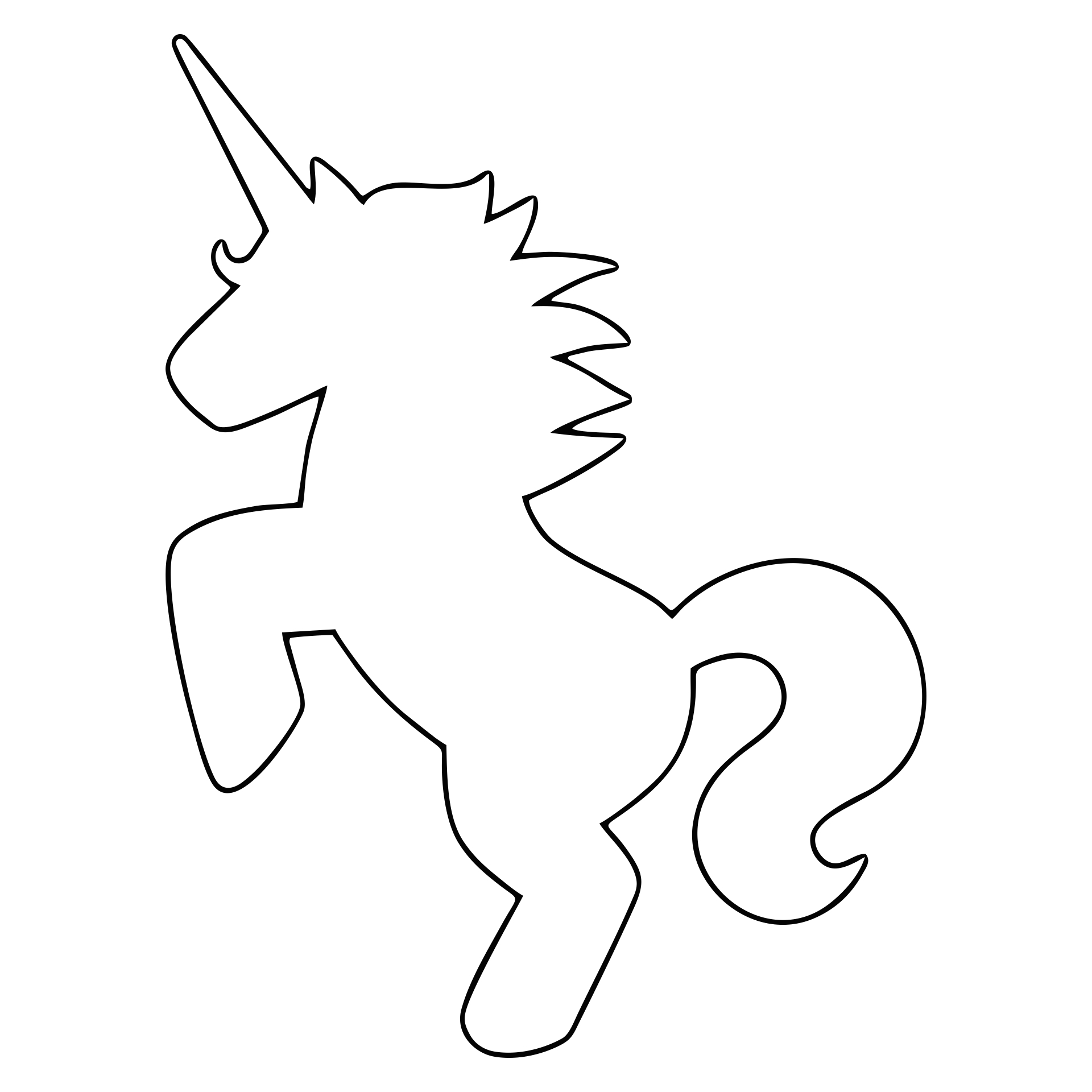 5 Images of Unicorn Stencils Free Printable