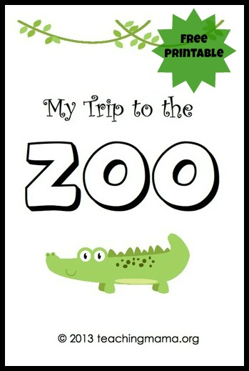 4 Images of Printable Zoo Books For Preschoolers