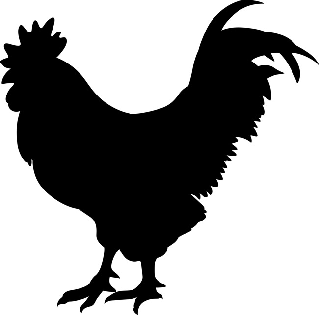 6 Images of Rooster Stencils Printable