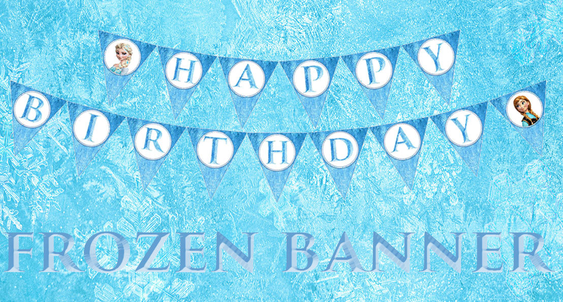 9 best images of frozen birthday banner free printable