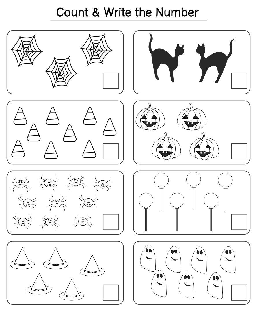 math worksheet : 5 best images of preschool halloween worksheets printables  : Practice Worksheets For Kindergarten