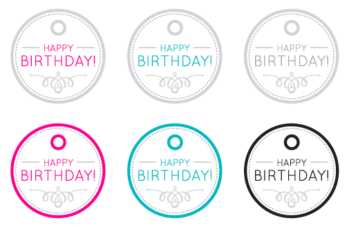 Happy Birthday Printable Gift Tags