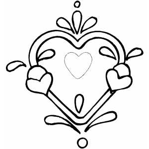 7 Images of Free Printable Heart Design