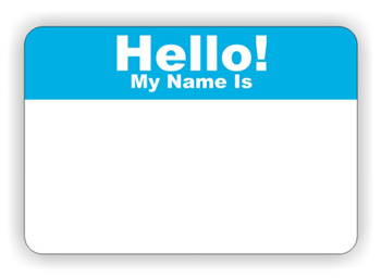 Name Tag Design Ideas claasic name tags do not have a logo Hello My Name Is Name Tag Clip Art