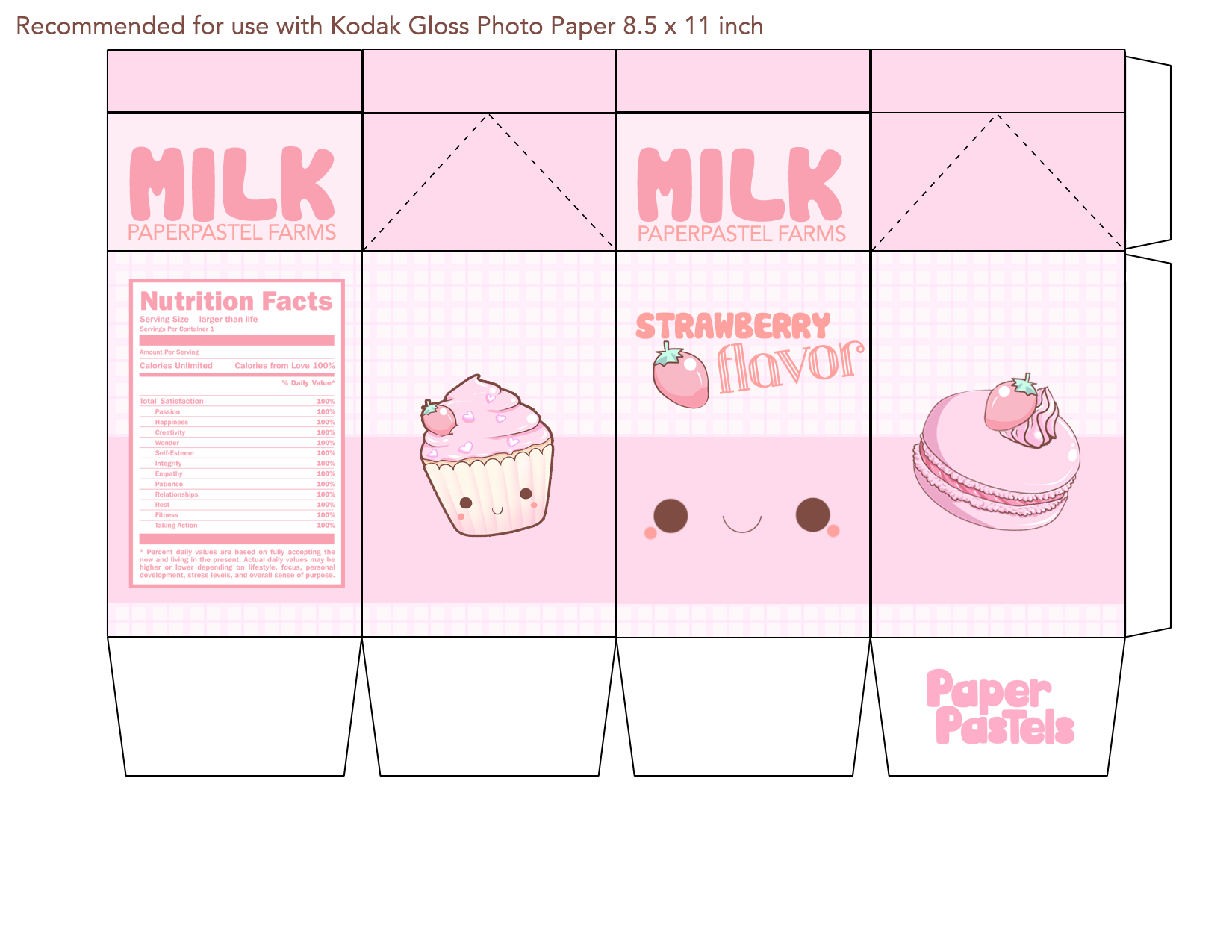 5 Images of Printable Milk Carton Template