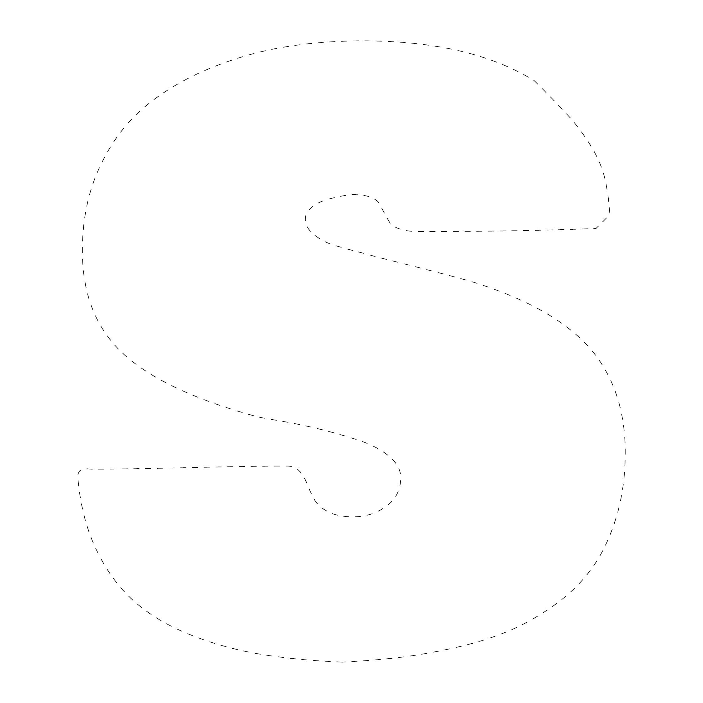 Large Letter S Cut Out Template