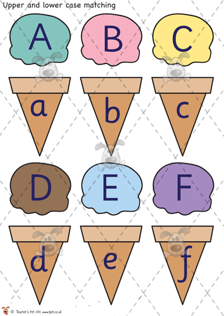 8 Images of Letter Matching Game Printable