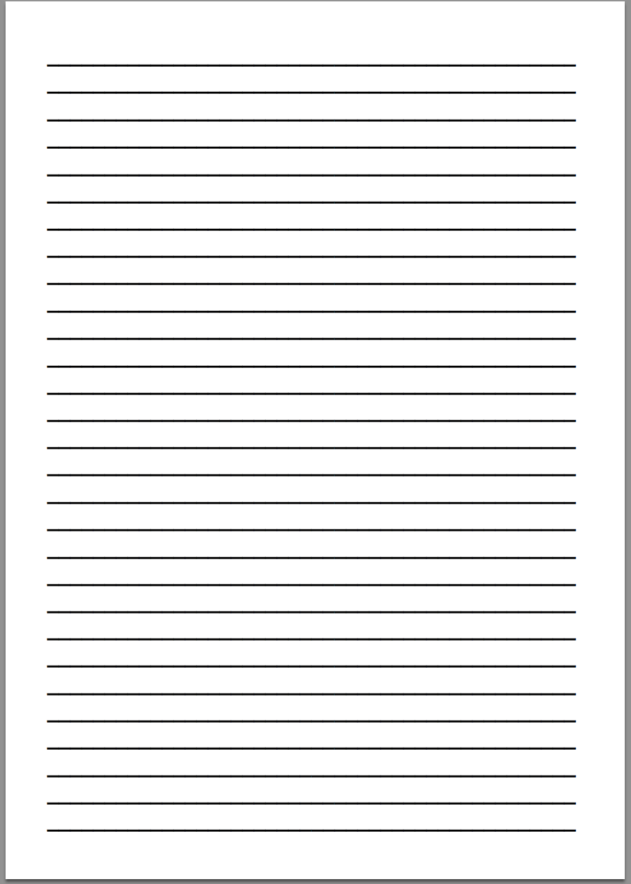 9 Best Images Of STAAR Lined Writing Paper Printable