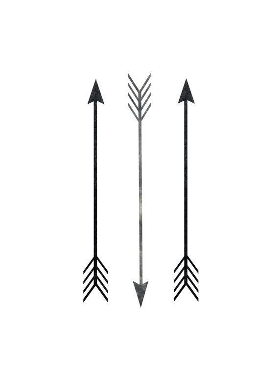 7 Images of Black Arrows Printable