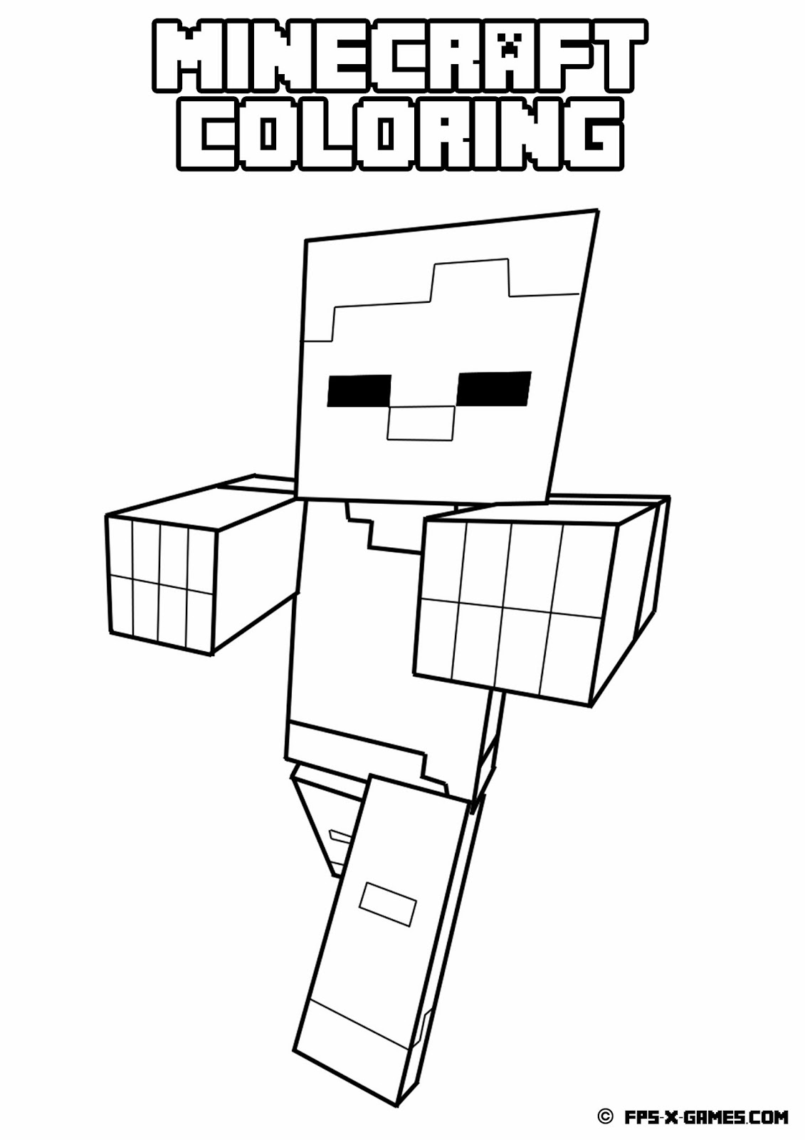 8 Images of Just Minecraft Coloring Pages Printable