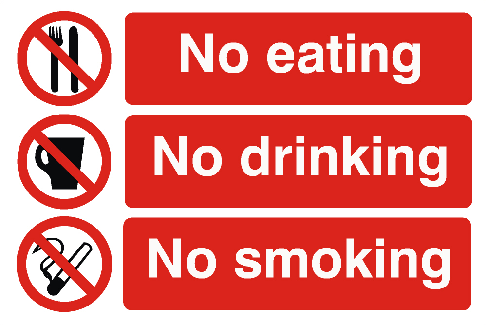 5 Images of Free Printable No Eating Or Drinking Signs