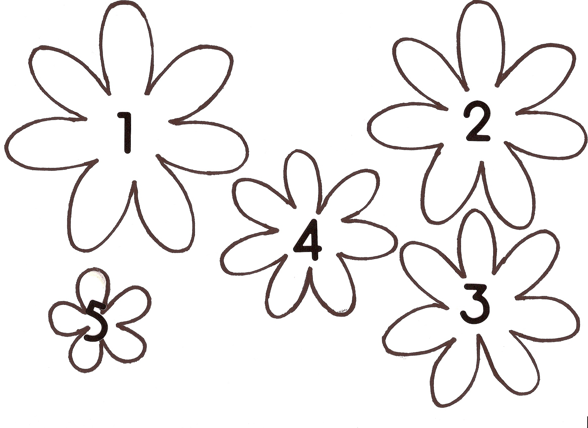 8 Images of Paper Flower Patterns Free Printable