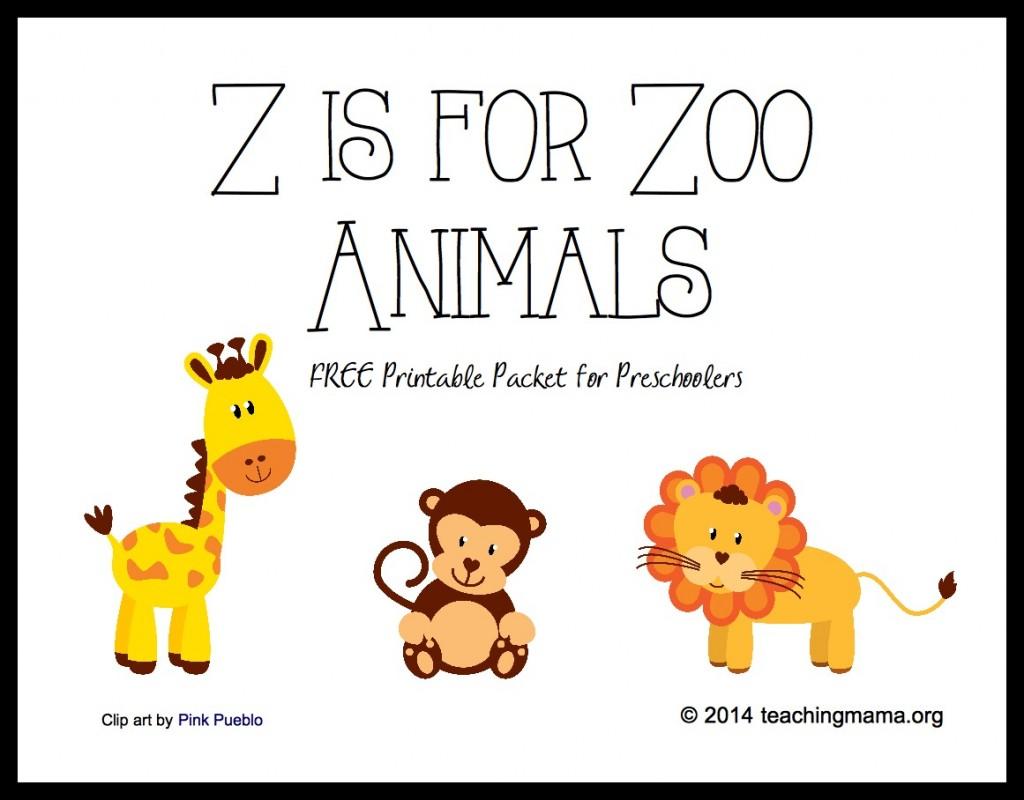 Preschool Animal Worksheet Print Outs : Best images of printable zoo books for preschoolers