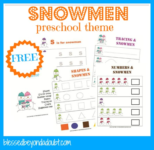 7 Images of Preschool Snow Theme Printables
