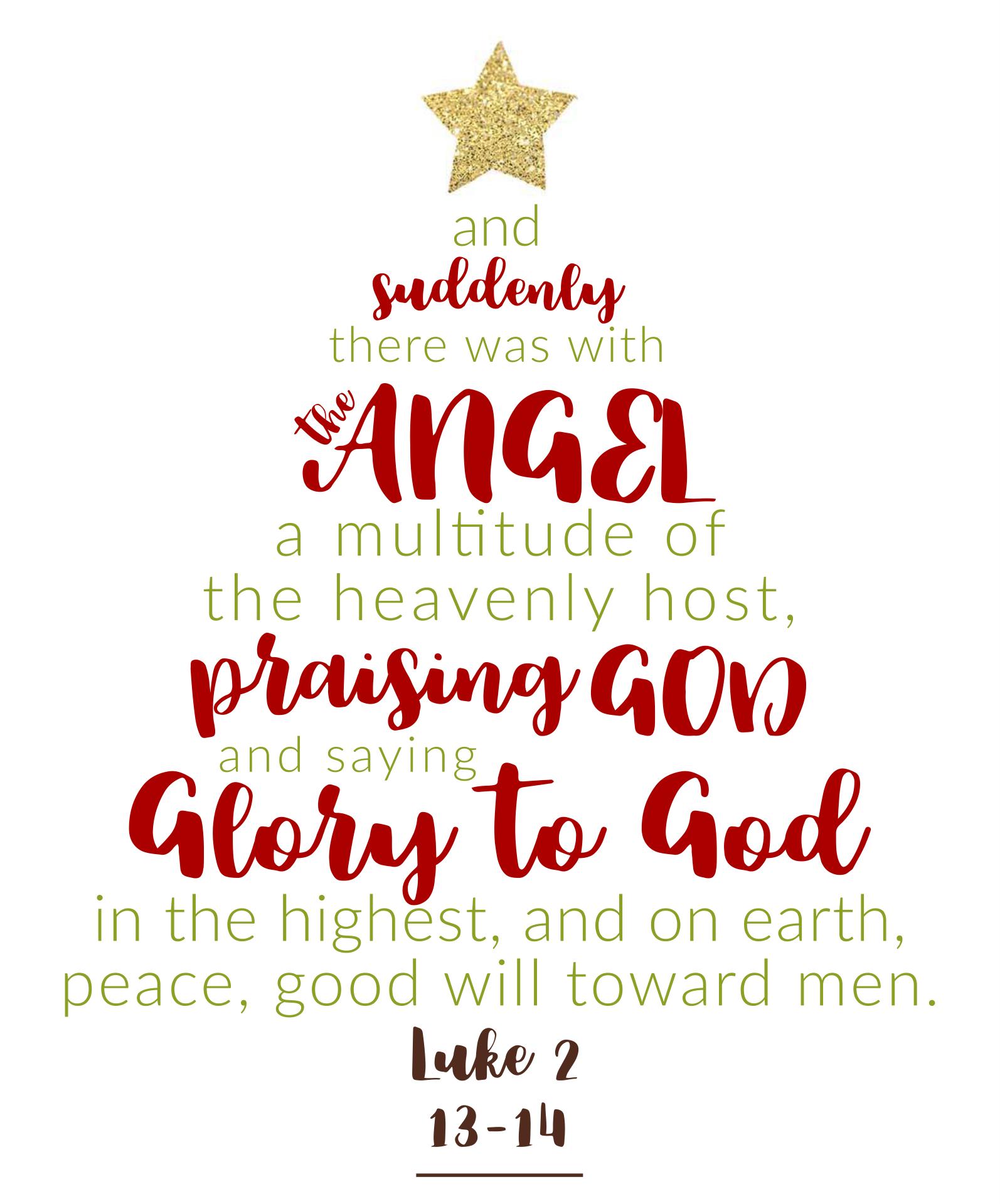Printable Christmas Scripture