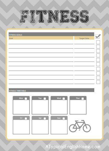 Printable Fitness Goal Sheets
