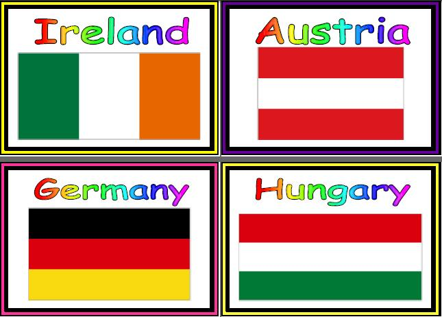 5 Images of Different Countries Flag Printables