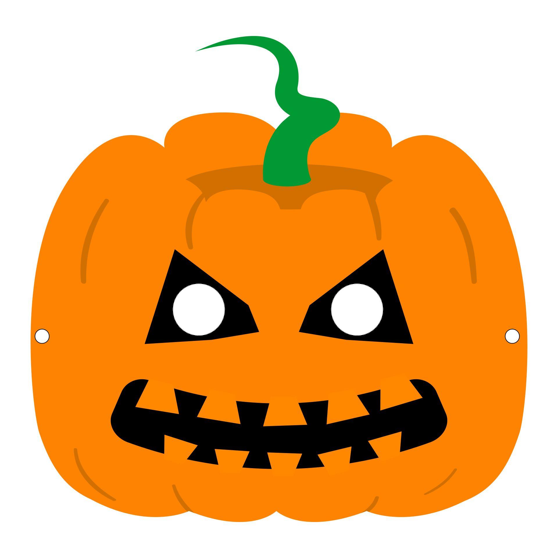 Printable Halloween Pumpkin Craft
