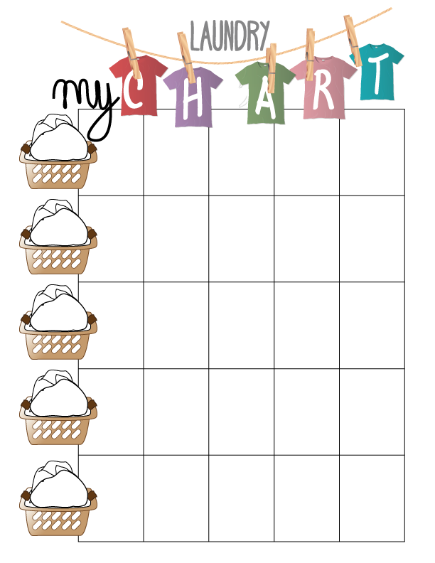 7 Images of Printable Laundry Chart