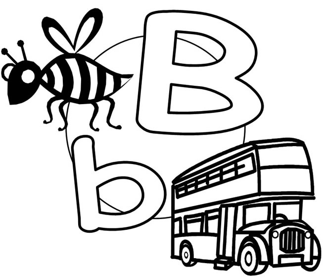 letter b coloring pages for preschoolers - letter b printables for preschool letter b worksheets