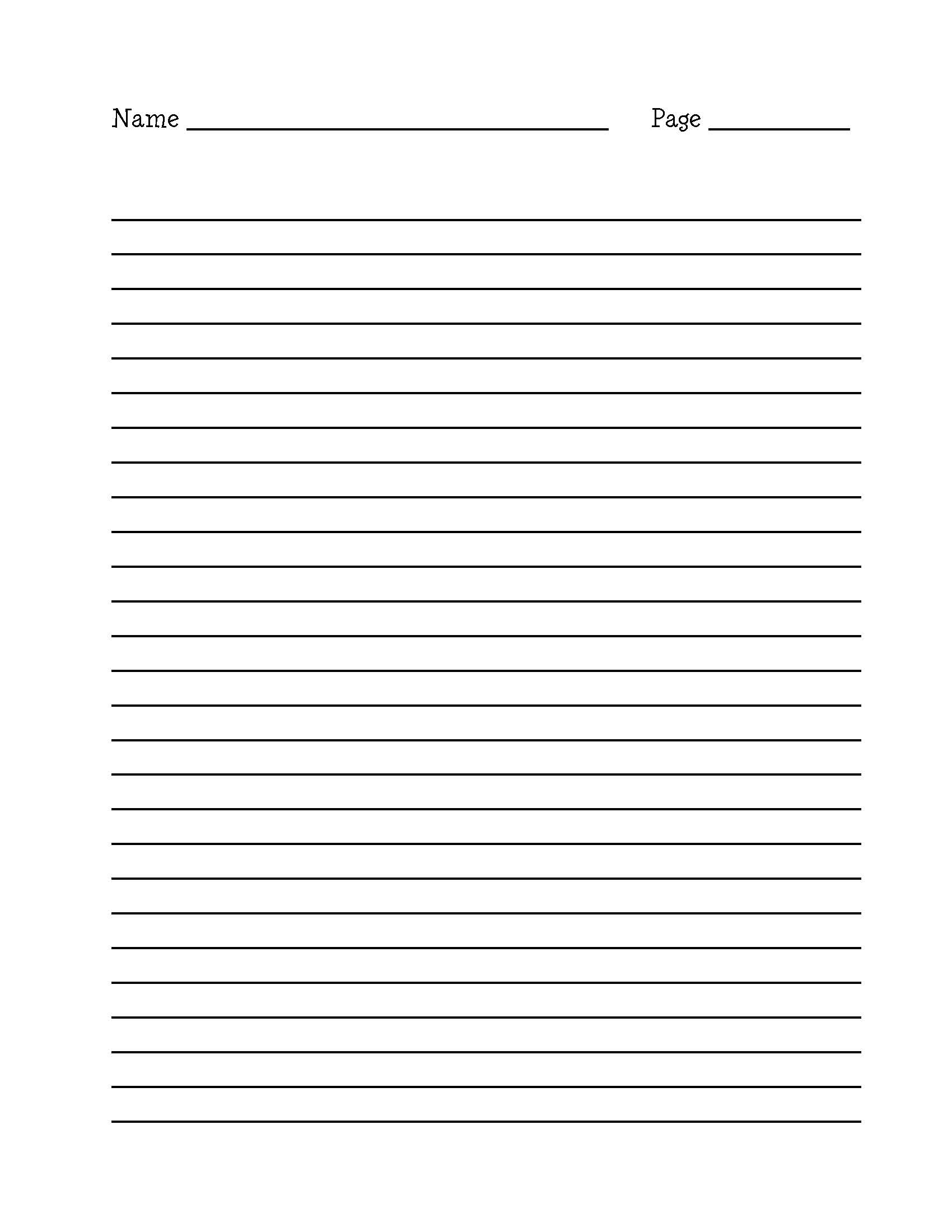 9 Images of STAAR Lined Writing Paper Printable