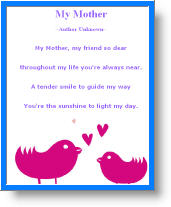 Printable Mother's Day Poem