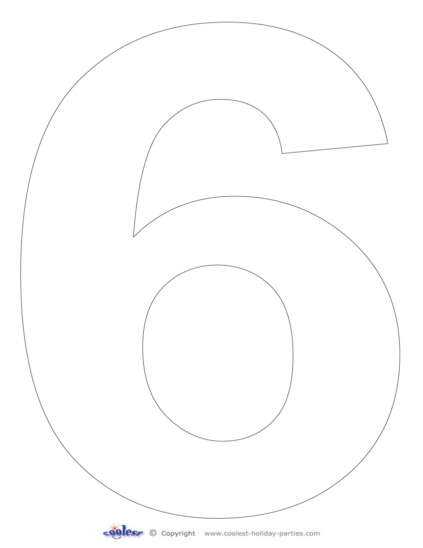 4 Images of Free Printable Number 6