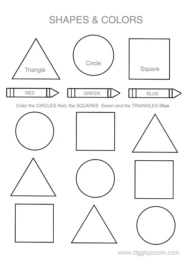 5 Images of Preschool Shapes Printable Patterns