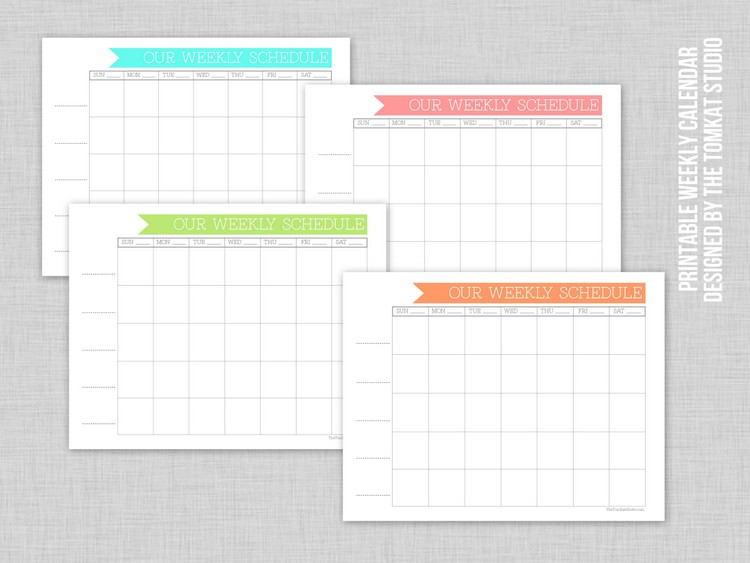 6 Images of Free Printable Weekly Family Calendar