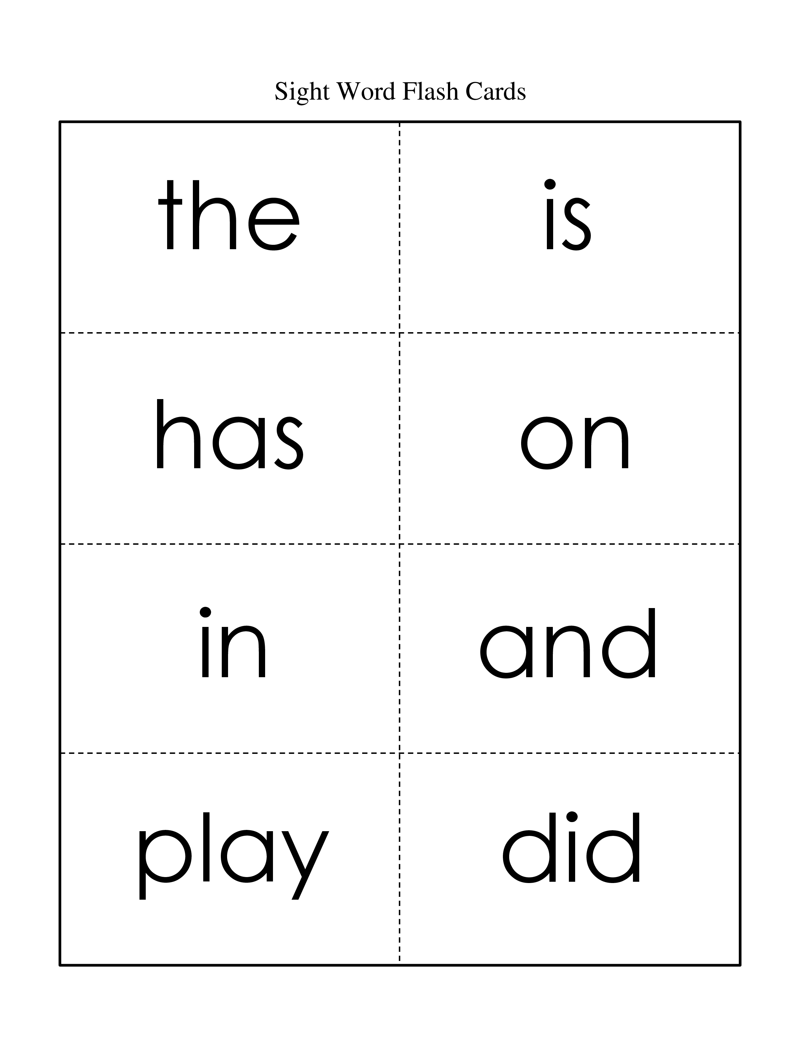 Worksheet Word Flash Cards free flash cards for kindergarten sight words scalien