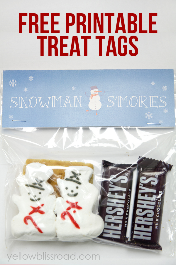 5 Images of S'mores Treat Bags Printable