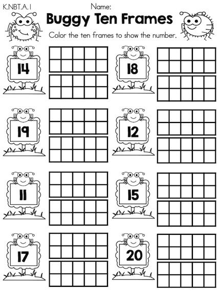 Subtraction Worksheets » Subtraction Worksheets With Ten Frames ...