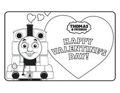 Thomas the Train Printable Valentine Cards