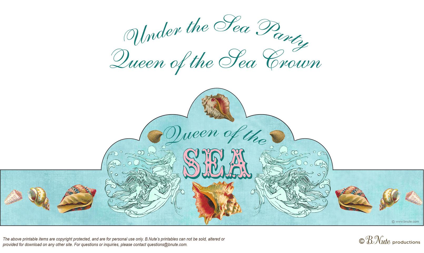 7 Images of Printable Little Mermaid Crown