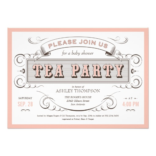 6 Images of Vintage Tea Party Invitations Printable Free