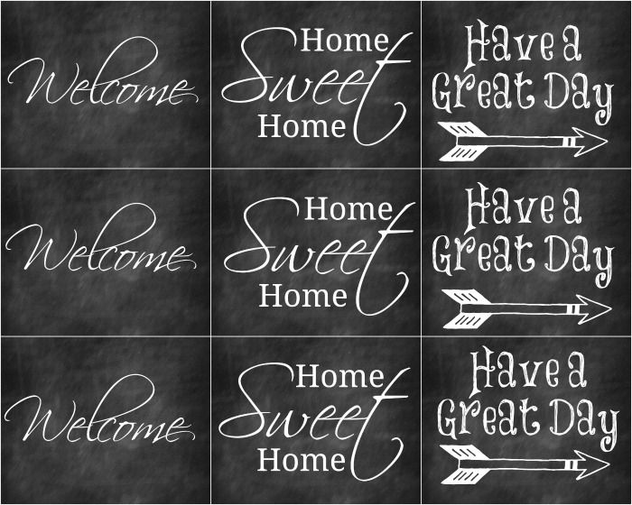 Welcome Chalkboard Printables Free