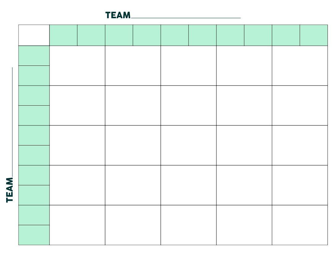 25 Square Football Pool Grid