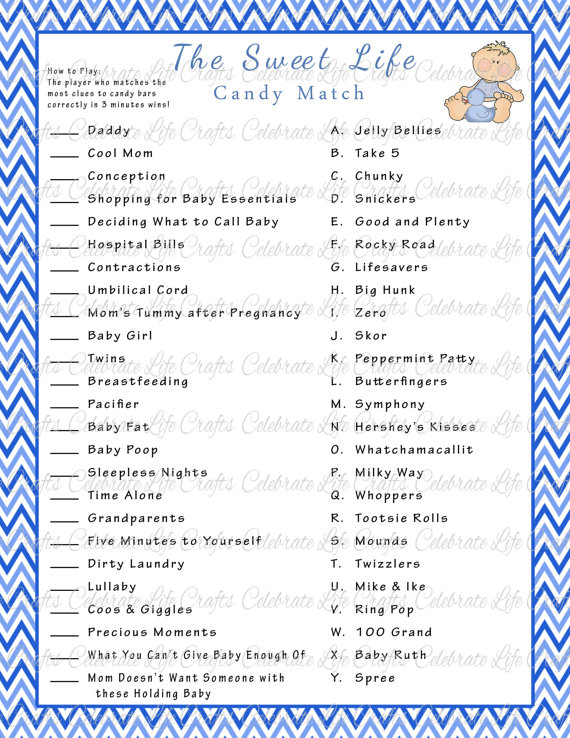 baby shower candy game free printable baby shower games com baby