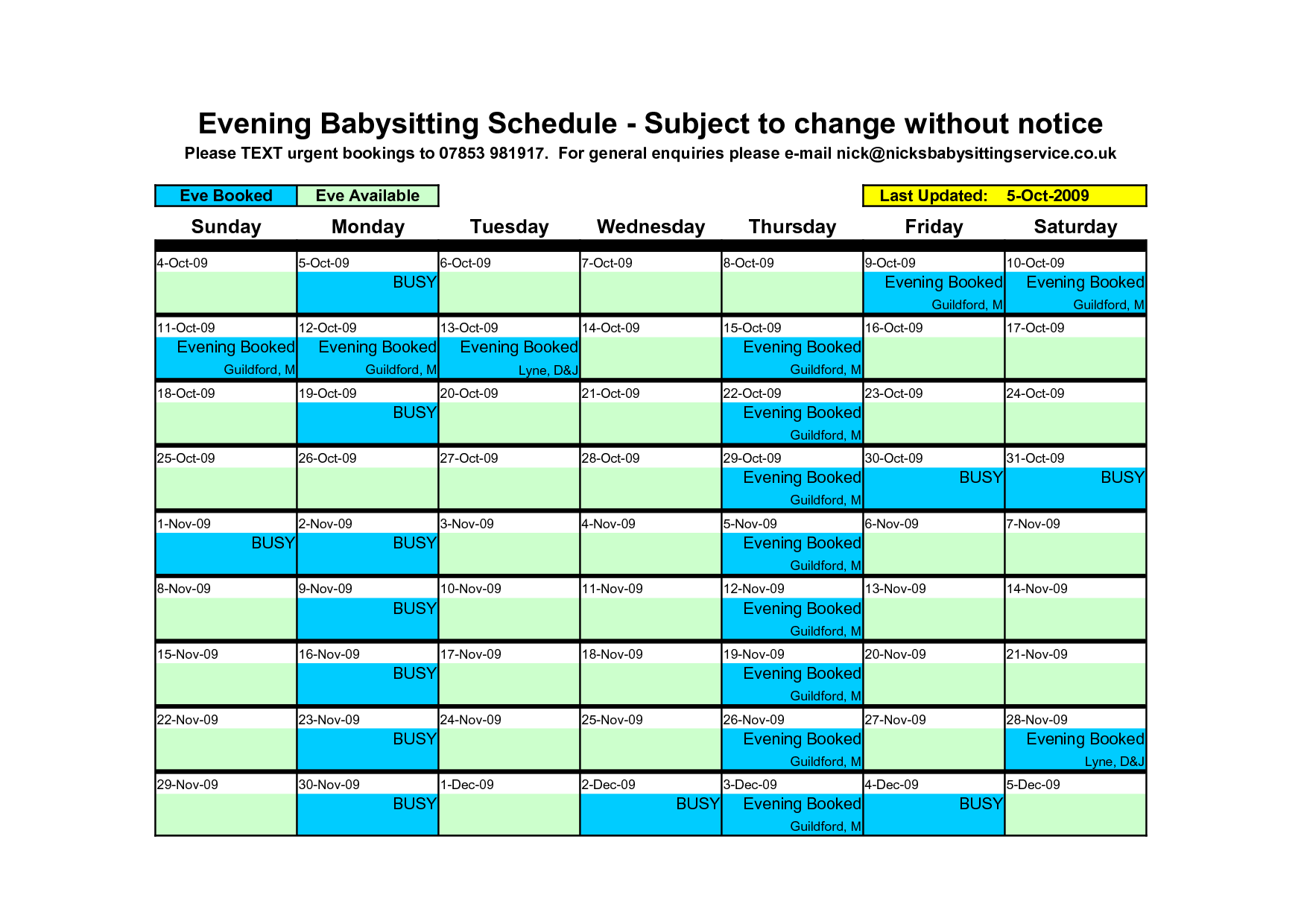 Babysitting Schedule Template. daycare daily schedule childcare ...