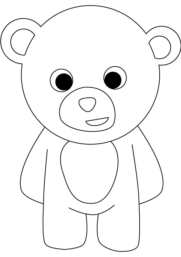 5 Images of Printable Baby Pages Bear Coloring