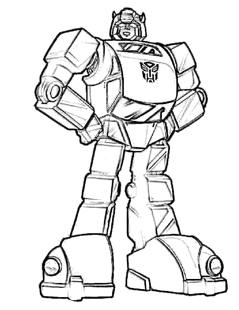 4 Images of Bumblebee Transformer Coloring Pages Printable