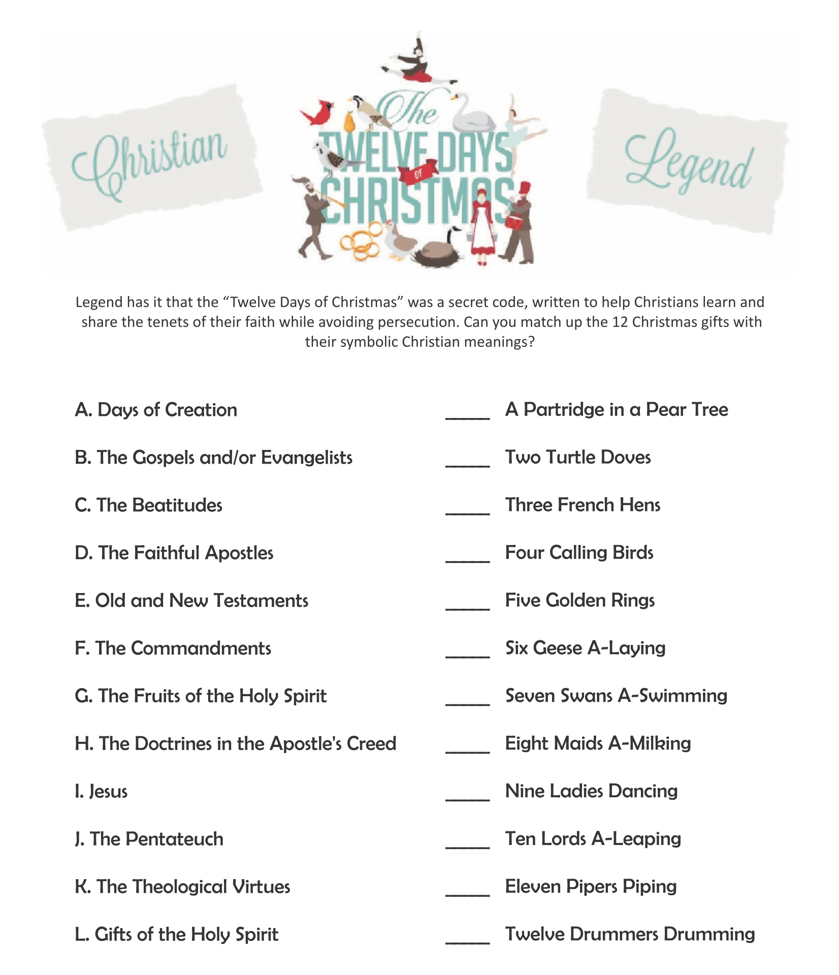 4 Images of Religious Christmas Printable Activities