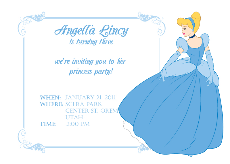 7 Images of Cinderella Birthday Invitations Printable