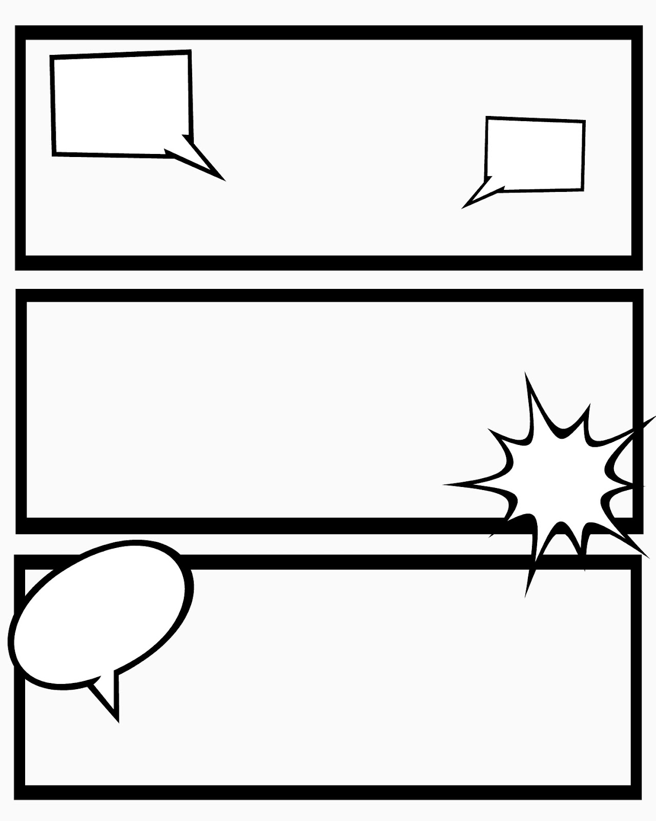kids printable blank comic book strip template comic book template