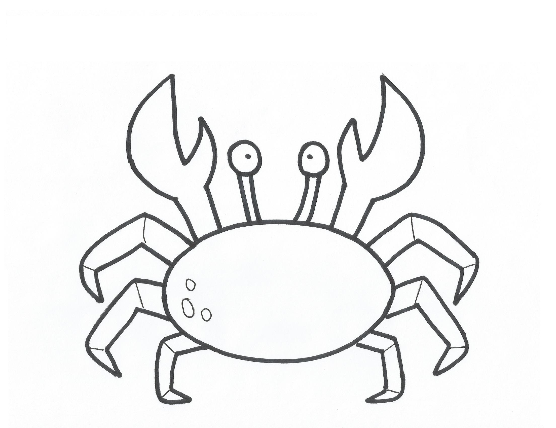 4 Images of Crab Outline Template Printable