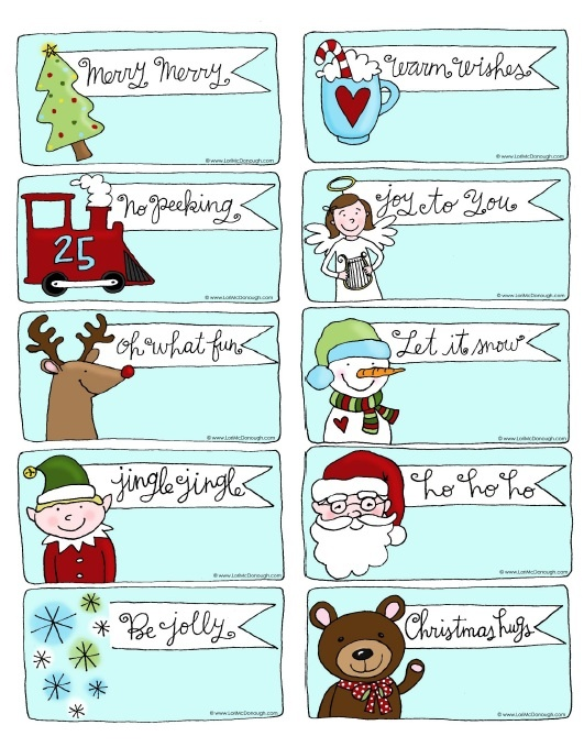 6 Images of Cute Printable Gift Tags