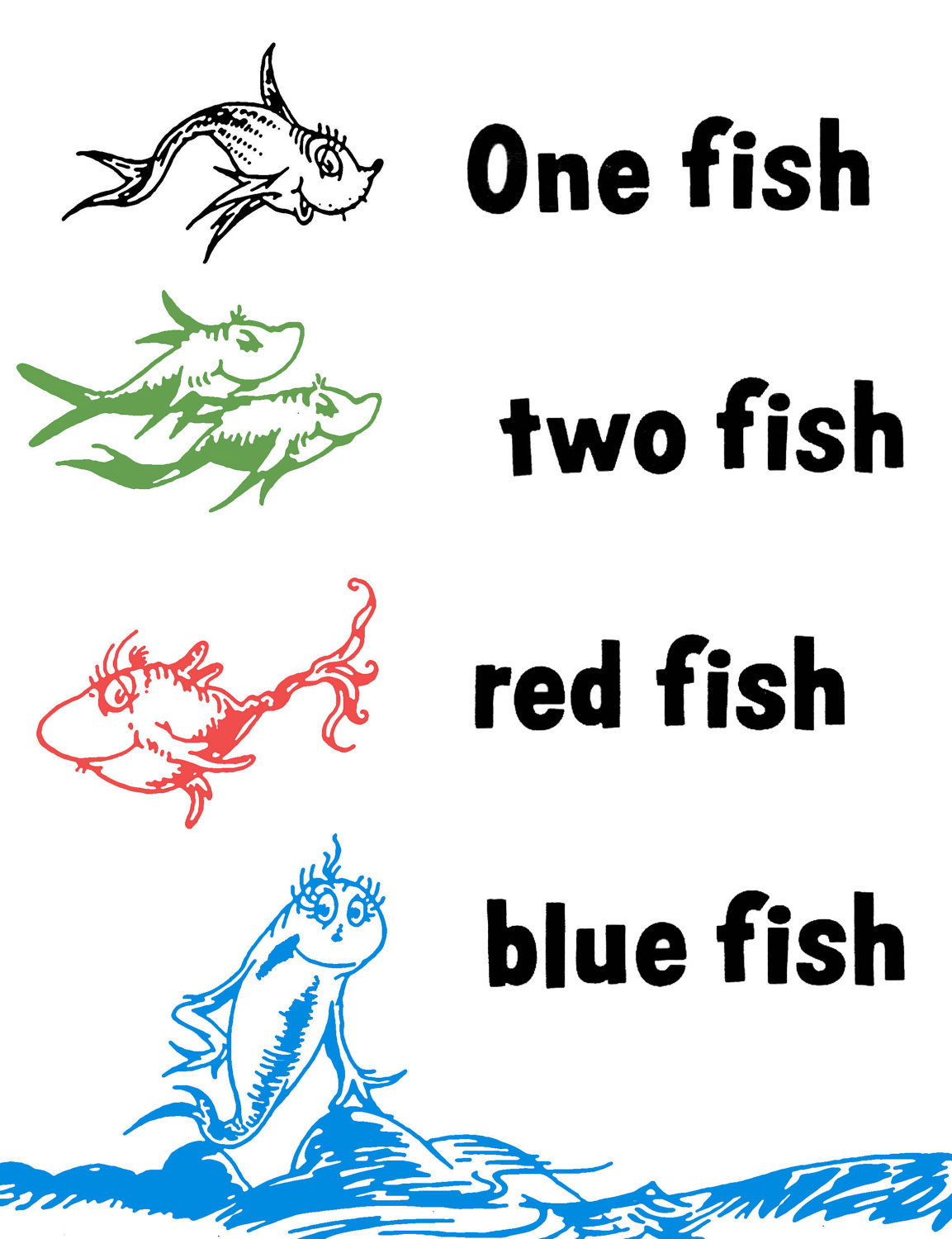 6 best images of red fish blue fish printables one fish