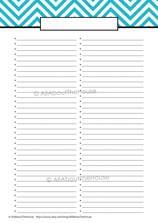 Editable to Do List Template Printable